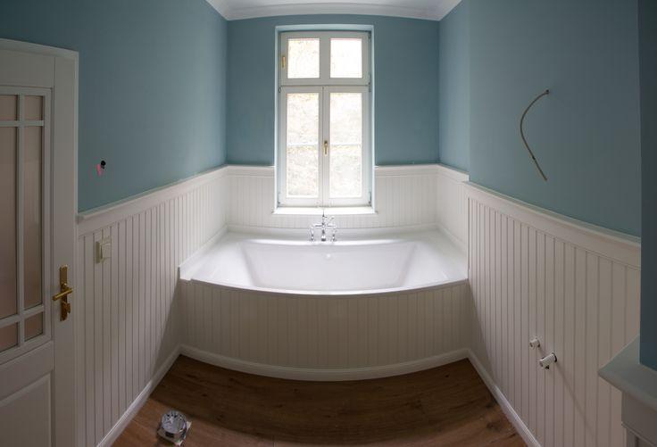beadboard.de - Holzvertäfelung im Badezimmer - Ausführung & Foto: Kachel-Art
