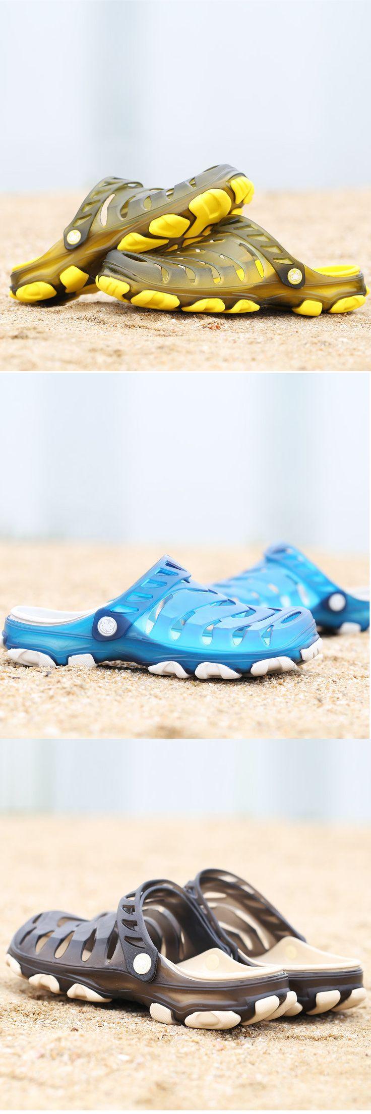 US$17.60 Men Hole Breathable Soft Beach Sandals Light Waterproof Shoes