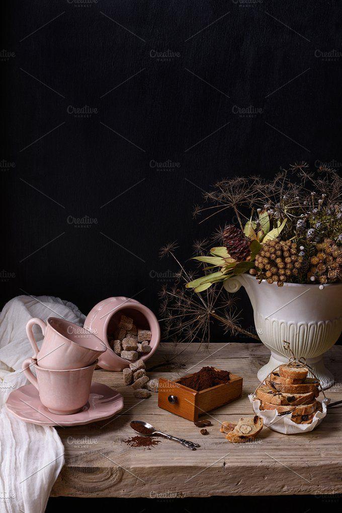 coffee still life by Iuliia Leonova on @creativemarket