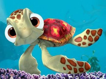 Finding Nemo.  I love this sweet cartoon movie.  (and I am not one for Disney films or cartoons)  This one really touched me though.