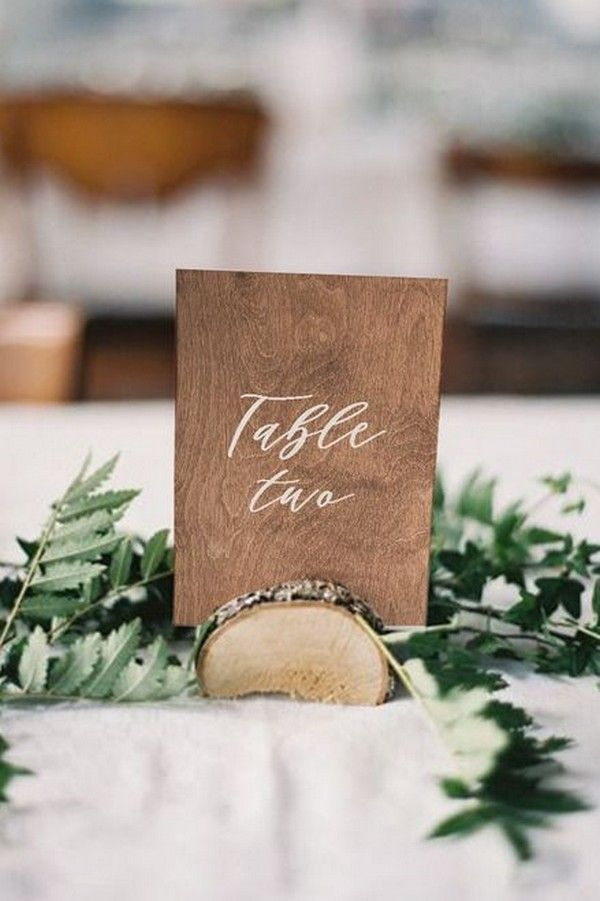 27 Inspiring Wedding Table Number Ideas For 2019 Wood Table
