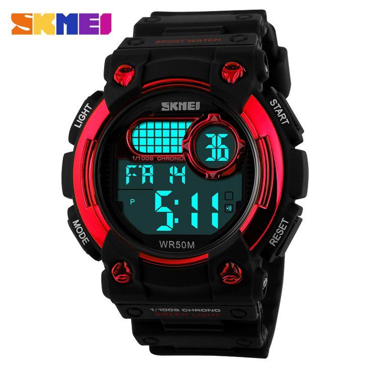 big LCD digital wall countdown stopwatch sports watches#skmei digital watch instructions#instructions