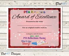 Best 25 pta reflections ideas on pinterest arts award art pta reflections certificate 2017 2018 digital printable pdf files or editable pdfs certificate template within reach theme 85x11 inch yadclub Images