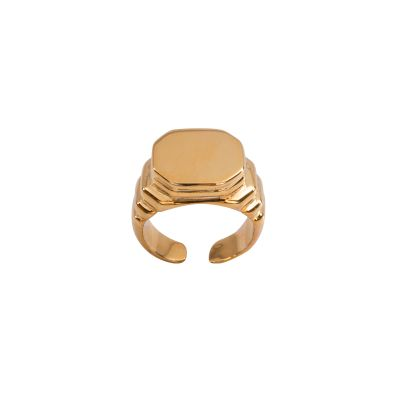 PINKY /SIGNET RING  Seal silver ring with the possibility of engrave your initials.  Maria Vittoria Paolillo Gioielli