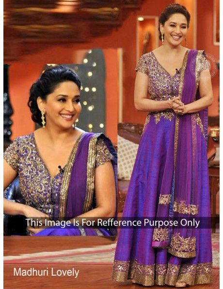 Buy Outstanding look in this purple color anarkali kameez online
