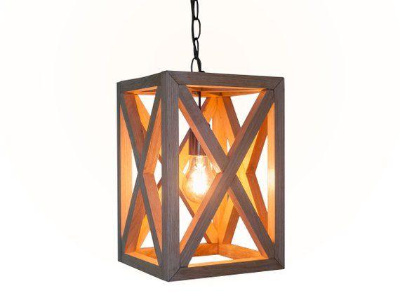 Wooden hanging lamp, Pendant lighting, Wood lamp, Oak Wooden lamp, Wooden chandelier, Oak hanging la