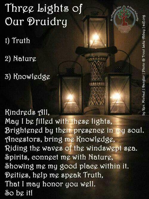 .Three lights of Druidry