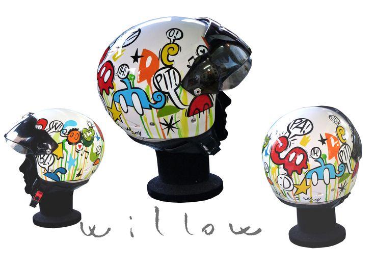 Casco customized by Willow 2014 www.willow-artblog.com