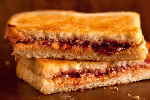Grilled Peanut Butter & Jelly Sandwich -- the simple act of griddling a PB&J changes the whole thing (crispy outside & and warm & extra gooey inside)