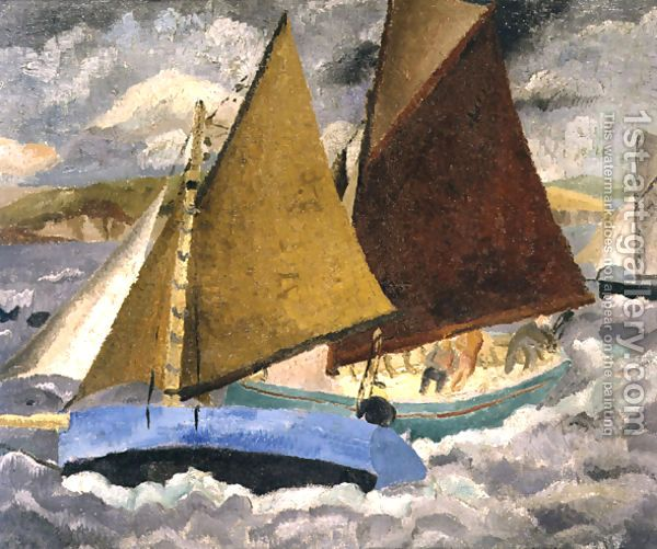 Yacht Race at Portscato, Cornwall (1928) by Christopher Wood