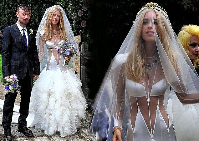 Lady Mary Charteris On Her Wedding