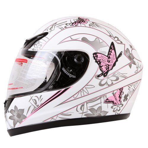 MATTE WHITE PINK BUTTERFLY FULL FACE MOTORCYCLE HELMET DOT (Small) - http://www.caraccessoriesonlinemarket.com/matte-white-pink-butterfly-full-face-motorcycle-helmet-dot-small/  #Butterfly, #Face, #Full, #Helmet, #Matte, #Motorcycle, #Pink, #Small, #White #Helmets, #Motorcycle