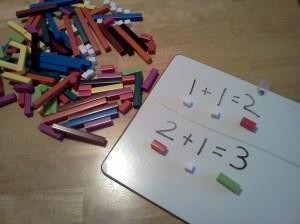 Cuisenaire Rods = visual, tactile, representational math