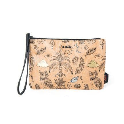 Een hip handtasje van Skunkfunk met een decoratieve print met gouden en zilveren details. ✓ Voor 21.00 uur besteld, morgen in huis.