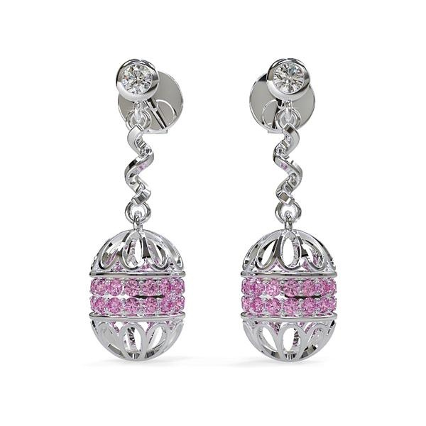 A beautifully rendered earrings set created in KeyShot by Chinh.