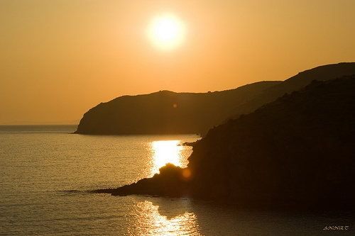 Sunset in Limnia #Chios #Aegean_sea #Greece