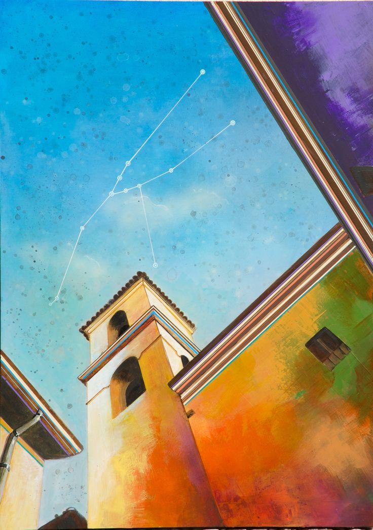 Constellations series  Taurus Acrylic & Oil on Board © Al Mazzaglia 2014. Artist: Al Mazzaglia #painting #buildings #draving #illustration #acrylic #art #artnews #al mazzaglia #italy #surrealism #oil on wood #artwork #surreal art #Ancona   https://www.facebook.com/almazzaglia.visualartist http://almazzaglia.blogspot.it