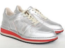 MAISON MARTIN MARGIELA 22 $595 metallic silver sneakers trainers shoes 36/6 NEW