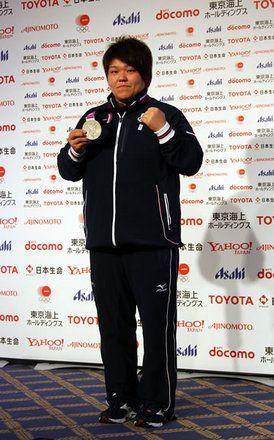 柔道女子78キロ超級で銀メダルを獲得した杉本美香選手