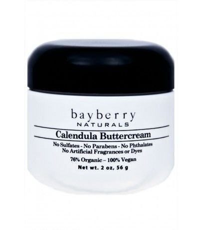 Bayberry Naturals Calendula Buttercream This all over body cream contains organic calendula extract, organic aloe, and organic shea butter to soothe dry irritated skin. You'll feel like you've just had a day at the spa.