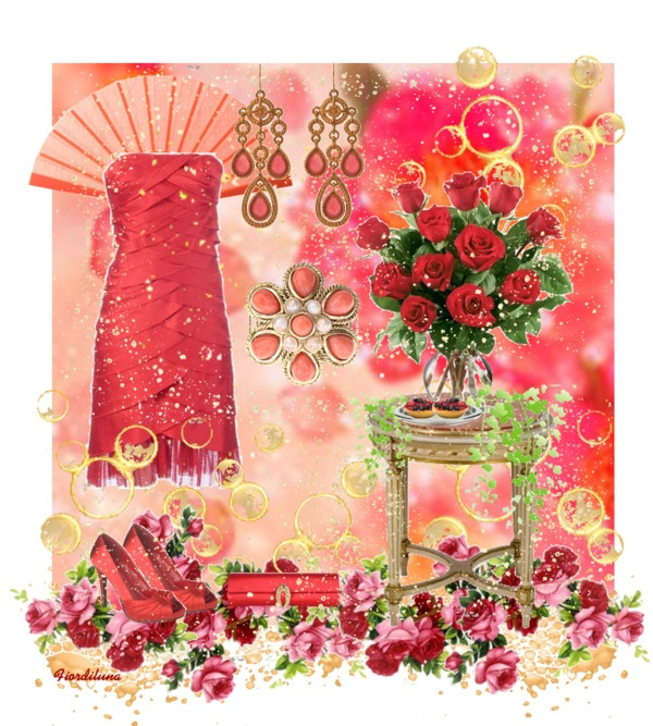 """""""The Colors: Crimson Red"""" by fiordiluna on Polyvore"""