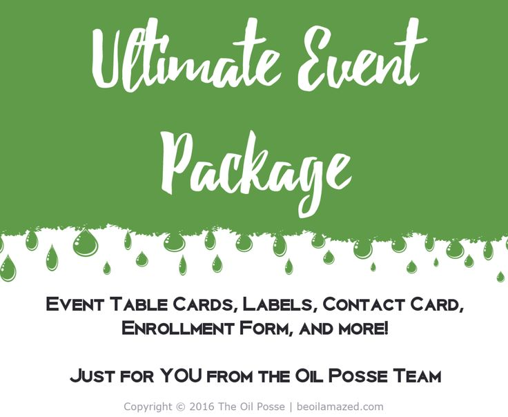 This is THE Ultimate Event Package u2014 labels, event cards - enrollment form