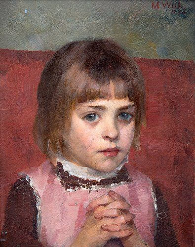 MARIA WIIK ~ Young Girl (1886) || Maria Katarina Wiik (August 2, 1853 – June 19, 1928), Finnish painter. - http://en.wikipedia.org/wiki/Maria_Wiik