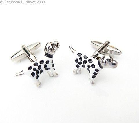 Dalmatian Dog Cufflinks