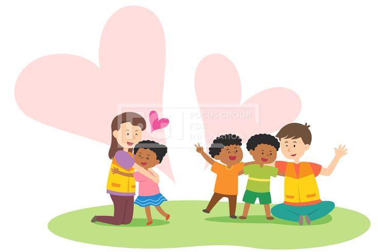 SILL241, 프리진, 일러스트, 사람, 생활, 벡터, 에프지아이, 남자, 여자, 캐릭터, 소녀, 소년, 어린이, 심플, 서있는, 전신, 귀여운, 단체, 기업, 봉사, 활동, 봉사활동, 자원, 자원봉사, 글로벌, 해외, 웃음, 미소, 행복, 흑인, 아프리카, 기부, 사랑, 나눔, 어른, 젊은이, 여자어린이, 남자어린이, 파마, 조끼, 후원, 하트, 허그, 프리허그, 교감, illust, illustration #유토이미지 #프리진 #utoimage #freegine 20071206