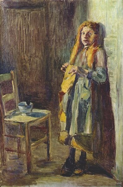 Kuroda Seiki, Girl of Brehat, Brittany, 1891