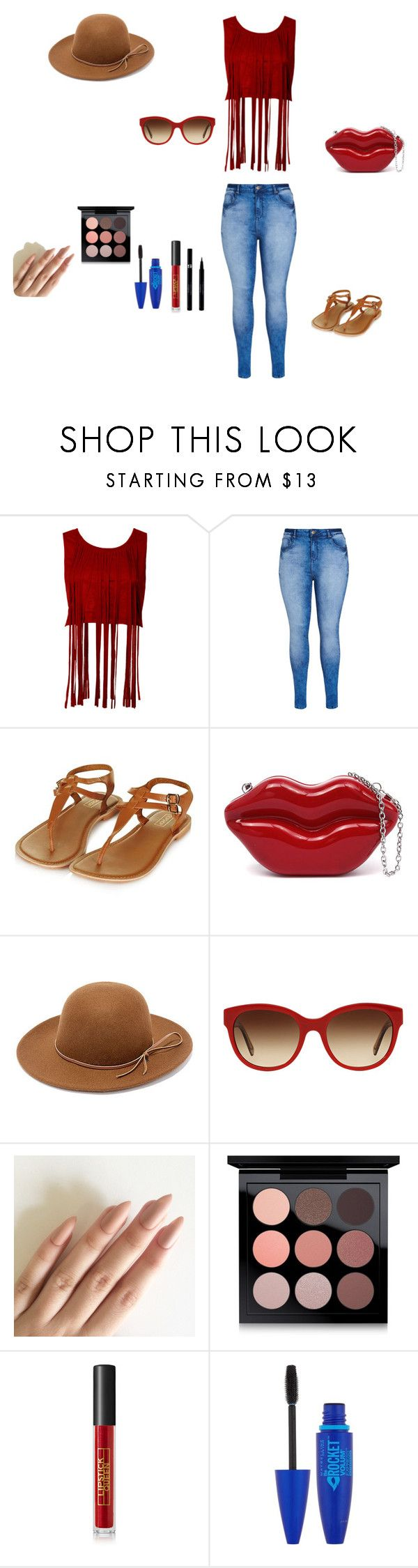 """""""Nice sunny day"""" by diva-drama ❤ liked on Polyvore featuring beauty, City Chic, Topshop, Rhythm., Burberry, MAC Cosmetics, Lipstick Queen, Maybelline and Sisley"""