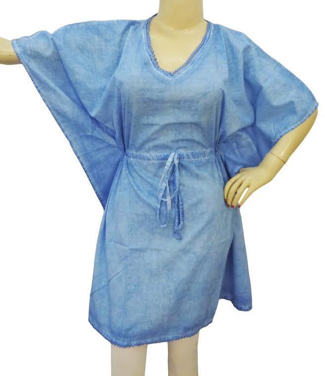 Blue color kafthan , mini dress , summer dress , plus size , free size ,plain blue color, kafthan, cafthan, best gift for her, best seller by colorfuloutlet on Etsy