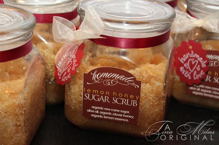 My homemade sugar scrubs I gifted to all the lovely ladies in my life for Christmas 2010