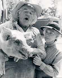 Will Geer (with Ellen Corby) as Grandpa in The Waltons -two of my favorite grandparents... they remind me of my grandparents and long ago memories