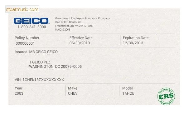 Fake Geico Insurance Card Template Stoatmusic In Insurance Card Template For Geico Insurance Card Template Card Template Insurance Printable Car Insurance