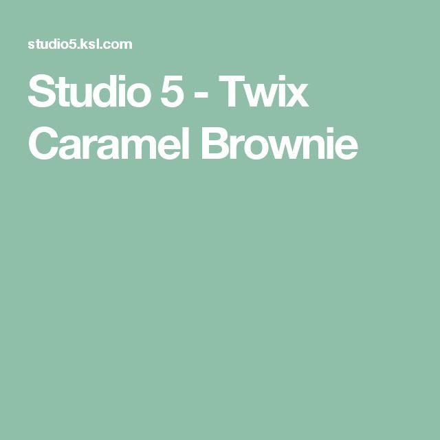 Studio 5 - Twix Caramel Brownie