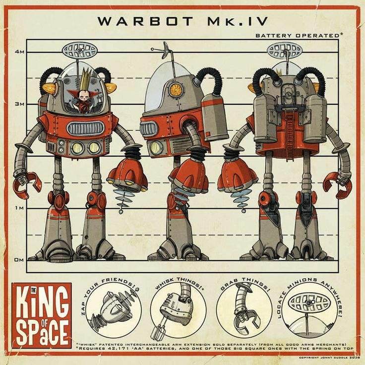 Jonny Duddle's character design for his upcoming book King of Space