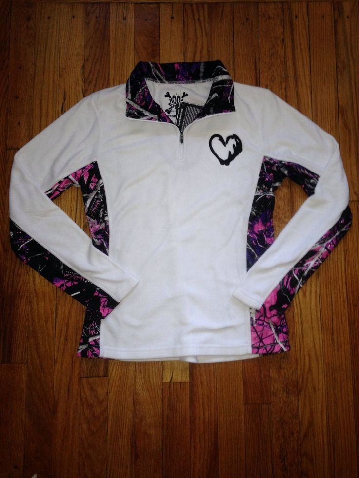 Image of white Hook n Antler/Muddy Girl Camo quarter zip fleece **Want more than any other jacket**