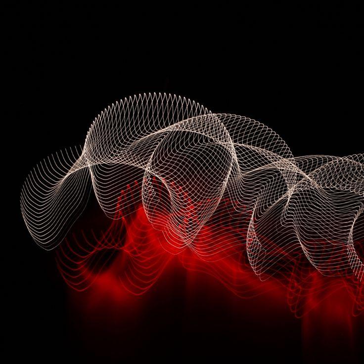 Abstract Lines Spots Dark Background #Retina #iPad #Air #wallpaper