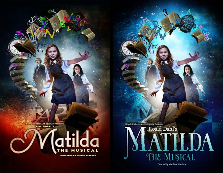 Matilda The Musical conceptual development. I really like these, but I love the final one!