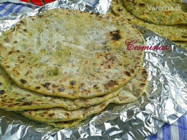 Špaldové tortilly s medvedím cesnakom (fotorecept) - Recept