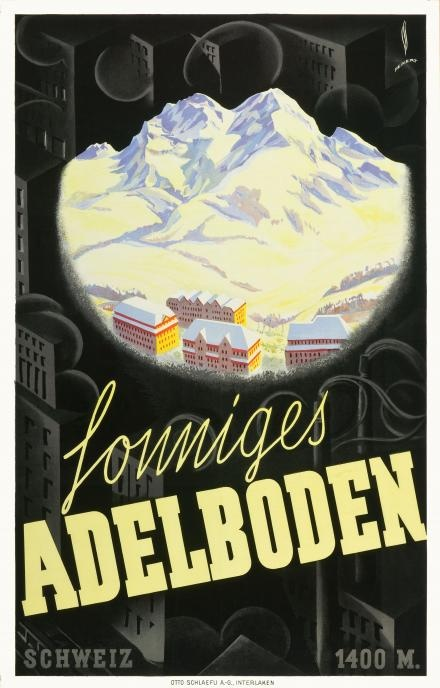 Adelboden, Switzerland Vintage Poster, cant believe its been 12 years since i've been there