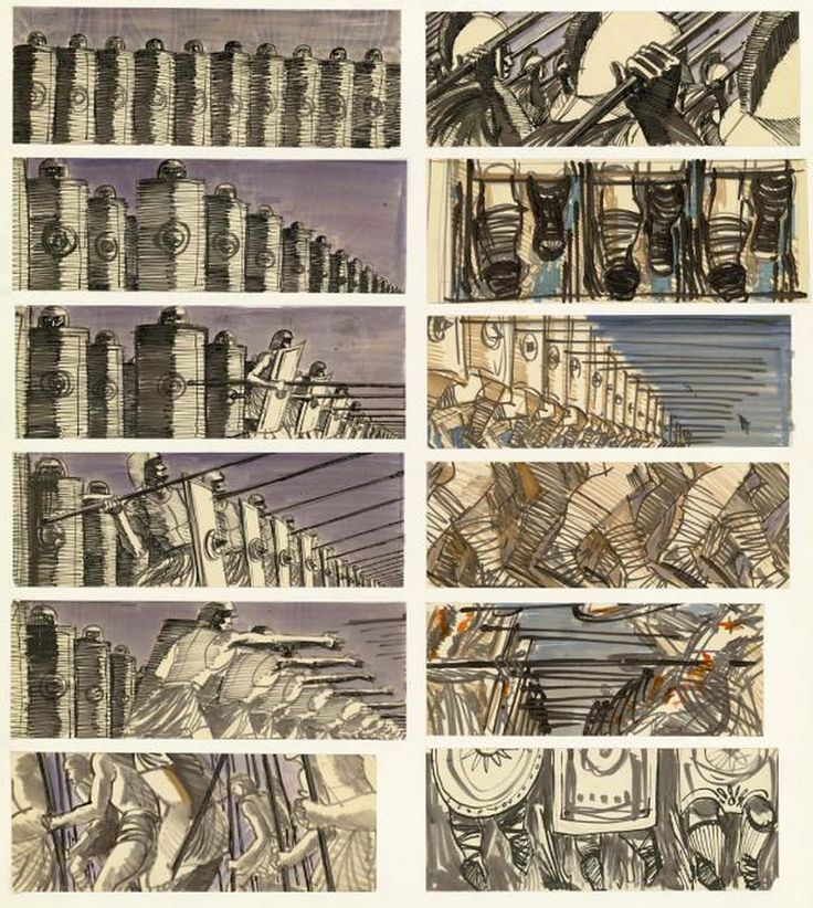 Saul Bass Storyboards For Spartacus