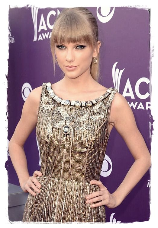 Celebrity Inspired #Hairstyles - Taylor Swift's Blunt Bang