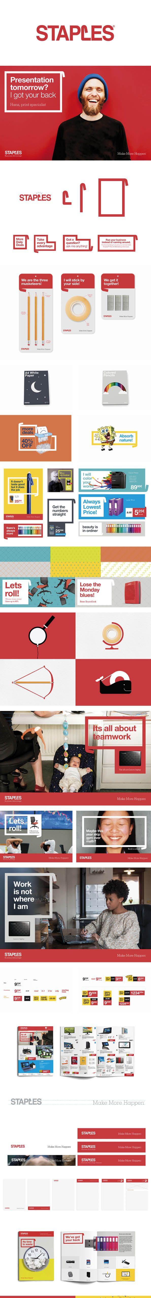 More corporate-designs are collected on: https://pinterest.com/rothenhaeusler/best-of-corporate-design/ · Client: Staples · Agency: koeweidenpostma #branding #identity #corporatedesign