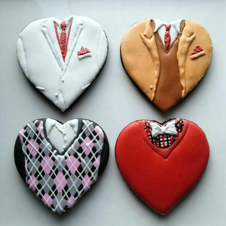 fathers day, guy inspired, heart cookies.  Such a snappy dresser