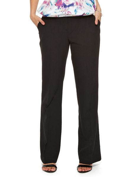 Featuring two slant pockets, these classic suit pants are a bootleg style. They are made from a two-way stretch fabric. #NewandNow