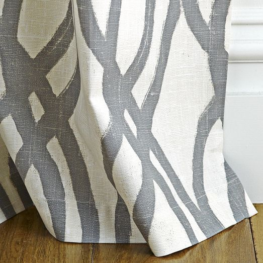Scribble Curtain – Feather Gray | west elm