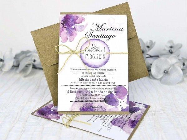 Invitatiile cu model Floral Acuarela va asteapta pe invitatie.org!