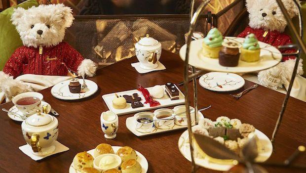 Celebrating Christmas with Harrods Teddy Bear Afternoon Tea at Mandarin Oriental